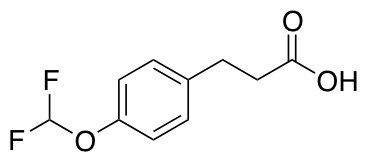3-[4-(Difluoromethoxy)phenyl]propanoic Acid