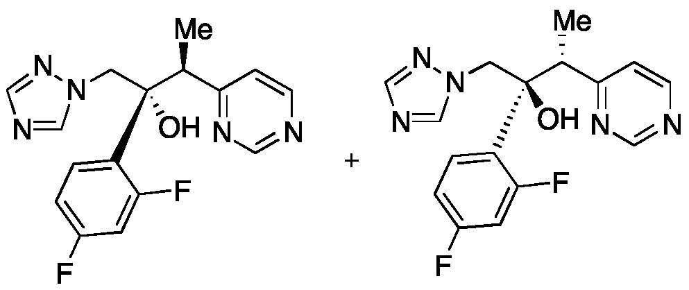 ((2RS,3SR)-2-(2,4-difluorophenyl)-3-(pyrimidin-4-yl)-1-(1H-1,2,4-triazol-1-yl)butan-2-ol)