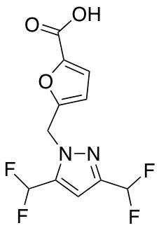 5-{[3,5-Bis(difluoromethyl)-1H-pyrazol-1-yl]methyl}-2-furoic Acid