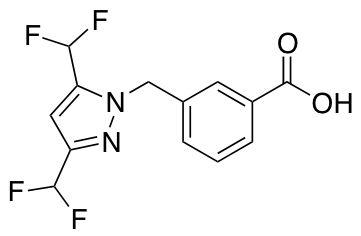 3-{[3,5-Bis(difluoromethyl)-1H-pyrazol-1-yl]methyl}benzoic Acid