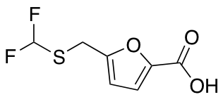 5-{[(Difluoromethyl)sulfanyl]methyl}furan-2-carboxylic Acid