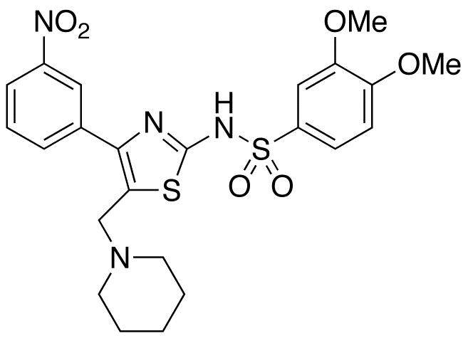 3,4-Dimethoxy-N-[4-(3-nitrophenyl)-5-(1-piperidinylmethyl)-2-thiazolyl]-benzenesulfonamide