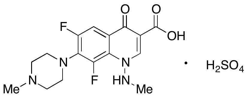 6,8-Difluoro-1,4-dihydro-1-(methylamino)-7-(4-methyl-1-piperazinyl)-4-oxo-3-quinolinecarboxylic Acid Sulfate