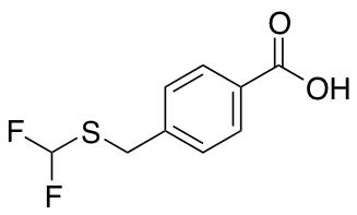 4-{[(Difluoromethyl)sulfanyl]methyl}benzoic Acid