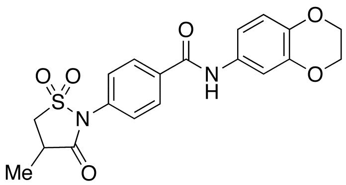 N-(2,3-Dihydro-1,4-benzodioxin-6-yl)-4-(4-methyl-1,1-dioxido-3-oxo-2-isothiazolidinyl)benzamide