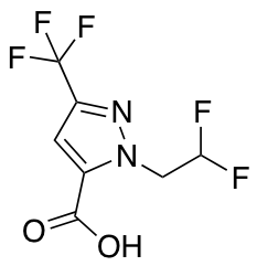 1-(2,2-Difluoroethyl)-3-(trifluoromethyl)-1H-pyrazole-5-carboxylic Acid