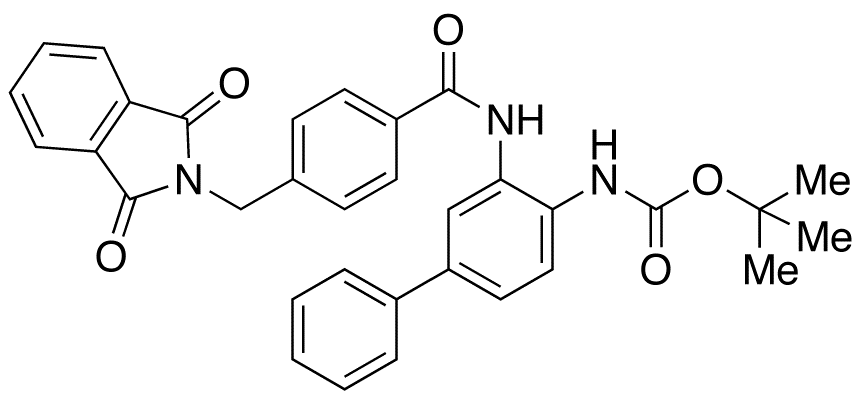 N-[3-[[4-[(1,3-Dihydro-1,3-dioxo-2H-isoindol-2-yl)methyl]benzoyl]amino][1,1'-biphenyl]-4-yl]carbamic Acid tert-Butyl Ester