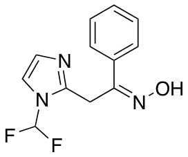 N-{2-[1-(Difluoromethyl)-1H-imidazol-2-yl]-1-phenylethylidene}hydroxylamine