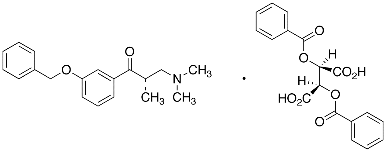 3-(Dimethylamino)-1-(3-benzyloxyphenyl)-2S-methyl-1-propanone Dibenzoyl Tartrate