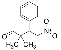 2,2-dimethyl-4-nitro-3-phenylbutanal