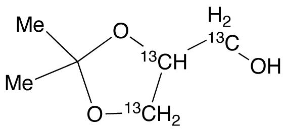 2,2-Dimethyl-1,3-dioxolane-13C3-4-methanol