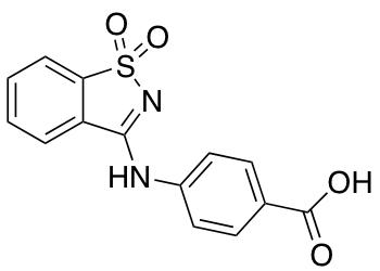 4-[(1,1-Dioxo-1,2-benzothiazol-3-yl)amino]benzoic Acid