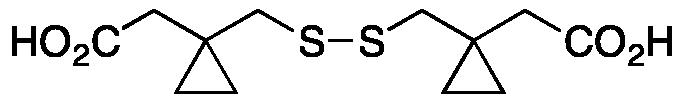 1,1'-[Dithiobis(methylene)]biscyclopropaneacetic Acid