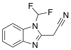 2-[1-(difluoromethyl)-1H-1,3-benzodiazol-2-yl]acetonitrile