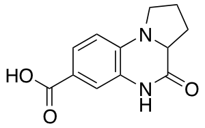 4-Oxo-1,2,3,3a,4,5-hexahydropyrrolo[1,2-a]quinoxaline-7-carboxylic Acid