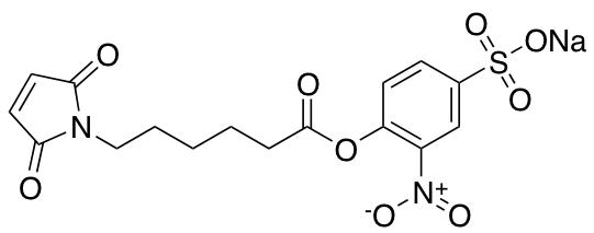 Epsilon-maleimidocaproic Acid-(2-nitro-4-sulfo)-phenyl Ester Sodium Salt