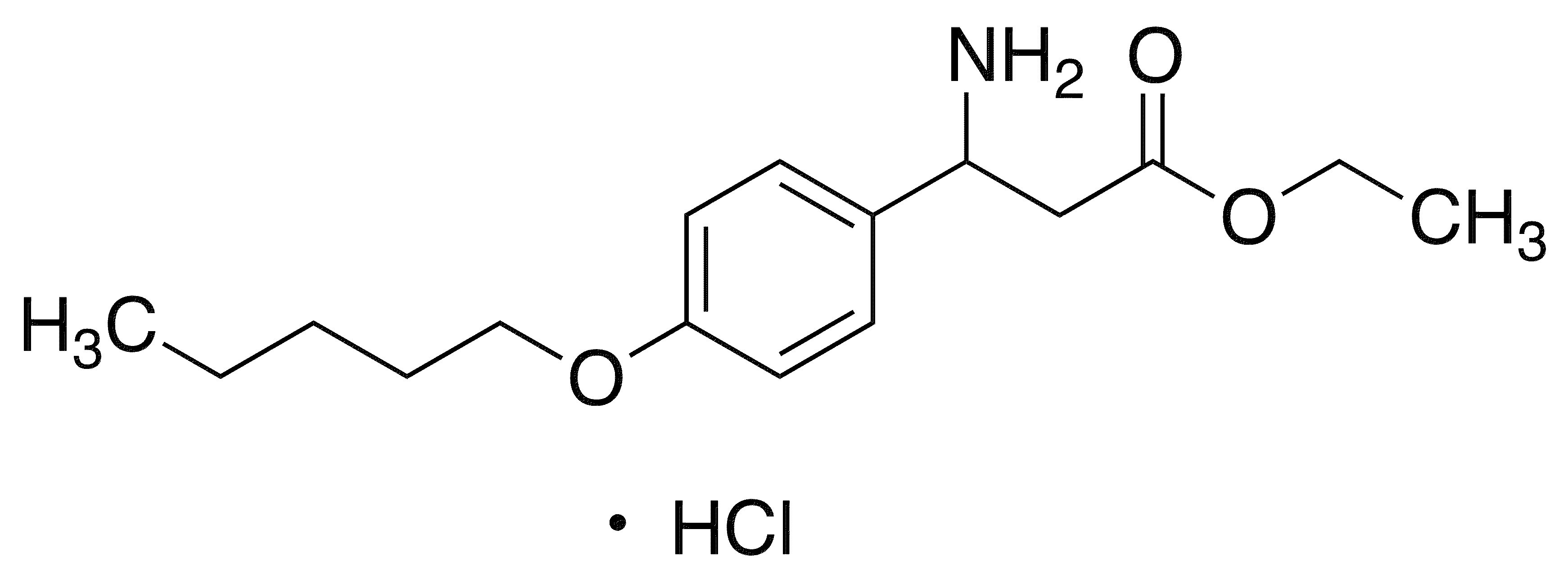 Ethyl 3-Amino-3-[4-(pentyloxy)phenyl]propanoate hydrochloride