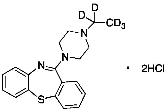 11-(4-Ethyl-1-piperazinyl)-dibenzo[b,f][1,4]thiazepine-D5 Dihydrochloride
