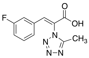 3-(3-Fluorophenyl)-2-(5-methyl-1H-1,2,3,4-tetrazol-1-yl)prop-2-enoic Acid