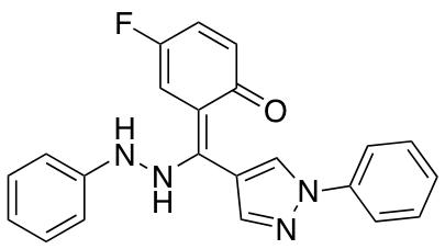 4-Fluoro-2-[(1-phenyl-1H-pyrazol-4-yl)(2-phenylhydrazin-1-ylidene)methyl]phenol
