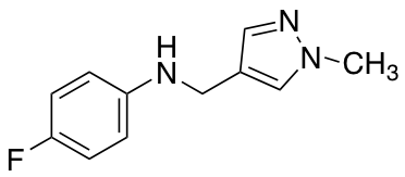 N-(4-Fluorophenyl)-N-[(1-methyl-1H-pyrazol-4-yl)methyl]amine