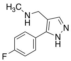 N-{[5-(4-Fluorophenyl)-1H-pyrazol-4-yl]methyl}-N-methylamine