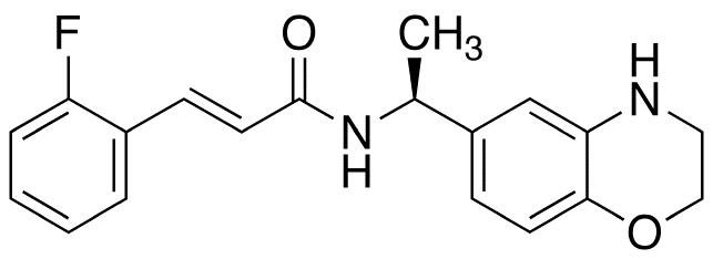 (E)-3-(2-Fluorophenyl)-N-((S)-1-(3,4-dihydro-2H-benzo[1,4]oxazin-6-yl)-ethyl]acrylamide