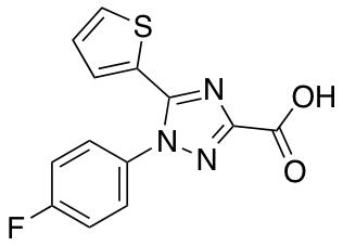 1-(4-Fluorophenyl)-5-(Thiophen-2-Yl)-1h-1,2,4-Triazole-3-Carboxylic Acid