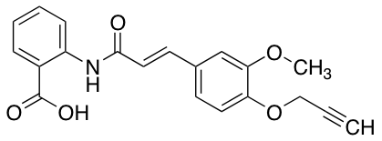 (E)-2-[[3-(3-Methoxy-4-propargyloxyphenyl)-1-oxo-2-propenyl]amino]benzoic Acid