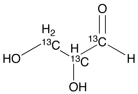 DL-Glyceraldehyde-1,2,3-13C3 (Aqueous Solution)