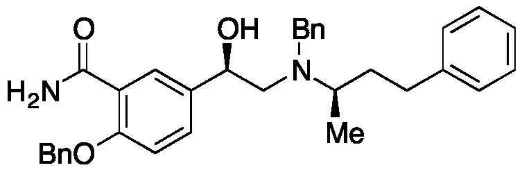 [R-(R*,R*)]-5-[1-Hydroxy-2-[(1-methyl-3-phenylpropyl)(phenylmethyl)amino]ethyl]-2-(phenylmethoxy)benzamide