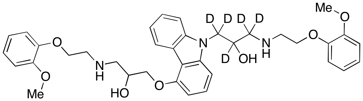 N-2-Hydroxy-3-[[2-(methoxyphenoxy)ethyl]amine Carvedilol-d5