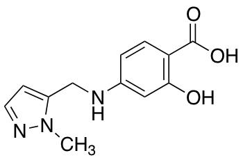 2-Hydroxy-4-{[(1-methyl-1H-pyrazol-5-yl)methyl]amino}benzoic Acid