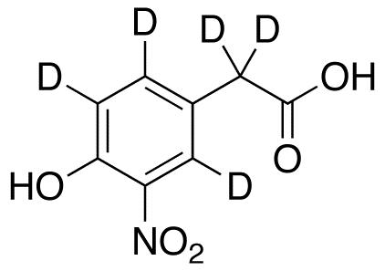 4-Hydroxy-3-nitrophenylacetic Acid-d5 (Major)