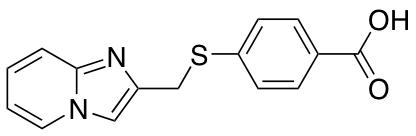 4-({Imidazo[1,2-a]pyridin-2-ylmethyl}sulfanyl)benzoic Acid