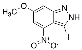 3-Iodo-6-methoxy-4-nitro 1H-Indazole