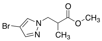 Methyl 3-(4-Bromo-1H-pyrazol-1-yl)-2-methylpropanoate
