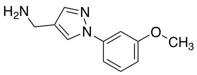1-[1-(3-Methoxyphenyl)-1H-pyrazol-4-yl]methanamine