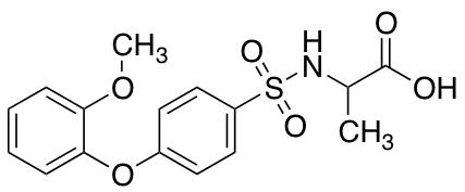 ((4-(2-Methoxyphenoxy)phenyl)sulfonyl)alanine