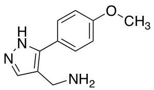 [3-(4-Methoxyphenyl)-1H-pyrazol-4-yl]methylamine