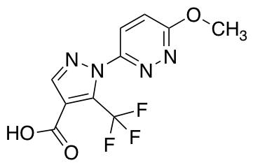 1-(6-Methoxypyridazin-3-yl)-5-(trifluoromethyl)-1H-pyrazole-4-carboxylic Acid