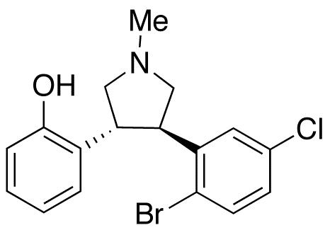 trans-N-Methyl-3-(2-hydroxyphenyl)-4-(2-bromo-5-chlorophenyl)pyrrolidine