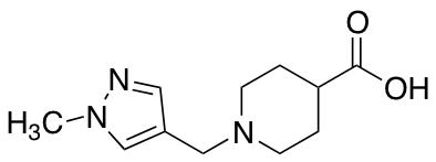 1-[(1-Methyl-1H-pyrazol-4-yl)methyl]piperidine-4-carboxylic Acid