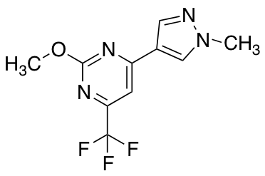 2-Methoxy-4-(1-methyl-1H-pyrazol-4-yl)-6-(trifluoromethyl)pyrimidine
