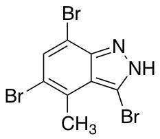 4-Methyl-3,5,7-tribromo (1H)indazole