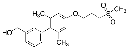 (2',6'-Dimethyl-4'-(3-(methylsulfonyl)propoxy)biphenyl-3-yl)methanol
