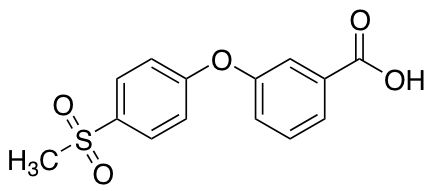 3-[(4-Methylsulfonyl)phenoxy]benzoic Acid