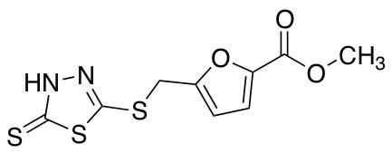 Methyl 5-{[(5-Sulfanyl-1,3,4-thiadiazol-2-yl)sulfanyl]methyl}furan-2-carboxylate