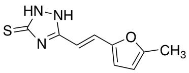 3-[2-(5-methylfuran-2-yl)ethenyl]-4,5-dihydro-1H-1,2,4-triazole-5-thione