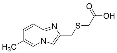 2-[({6-Methylimidazo[1,2-a]pyridin-2-yl}methyl)sulfanyl]acetic Acid